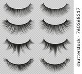 feminine lashes vector set.... | Shutterstock .eps vector #760368217