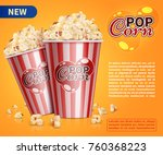 classic popcorn movie theater... | Shutterstock .eps vector #760368223