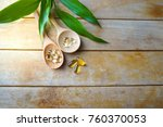 natural vitamins and... | Shutterstock . vector #760370053