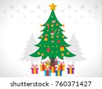 christmas tree and gifts ... | Shutterstock .eps vector #760371427