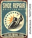 cobbler retro tin sign... | Shutterstock .eps vector #760371433