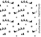 christmas seamless pattern... | Shutterstock .eps vector #760373143