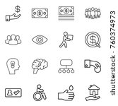 thin line icon set   investment ...   Shutterstock .eps vector #760374973