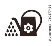 watering can. irrigation symbol ... | Shutterstock .eps vector #760377493