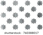 silver painted flower pattern.... | Shutterstock . vector #760388017