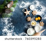 christmas new year food... | Shutterstock . vector #760395283