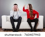 couple having argument  ... | Shutterstock . vector #760407943