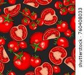 seamless hand drawn pattern... | Shutterstock .eps vector #760408033