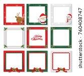 set of christmas border  ... | Shutterstock .eps vector #760408747