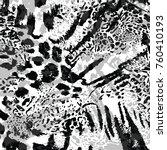 leopard skin texture | Shutterstock .eps vector #760410193