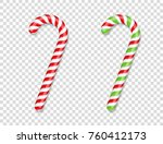 Red And Green Candy Canes With...