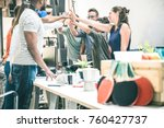 young employee startup workers... | Shutterstock . vector #760427737