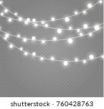christmas lights isolated on... | Shutterstock .eps vector #760428763
