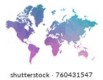 continents map. blue and pink... | Shutterstock .eps vector #760431547