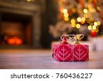 gift boxes with with gold and... | Shutterstock . vector #760436227