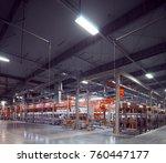 abrasive factory assembly line... | Shutterstock . vector #760447177