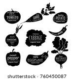 vector vegetables logo....   Shutterstock .eps vector #760450087