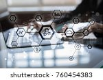 iot  automation  industry 4.0.... | Shutterstock . vector #760454383