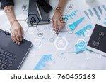 business structure diagram ... | Shutterstock . vector #760455163