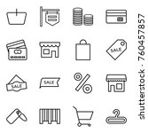 thin line icon set   basket ... | Shutterstock .eps vector #760457857