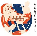 santa claus flat minialistic... | Shutterstock .eps vector #760457917