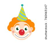 clown icon flat style  ... | Shutterstock .eps vector #760465147