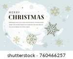 simple christmas card with...   Shutterstock .eps vector #760466257
