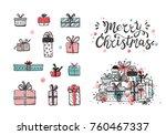 merry christmas. holiday vector ...   Shutterstock .eps vector #760467337