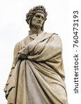 Small photo of Dante statue near Santa Croce Florence Italy