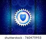 digital technology protection... | Shutterstock .eps vector #760475953