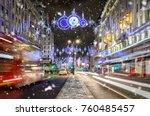 a shopping high street in...   Shutterstock . vector #760485457