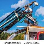carlisle  ma  usa   october 17  ... | Shutterstock . vector #760487353