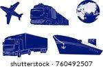 transport logistics  the system ... | Shutterstock .eps vector #760492507