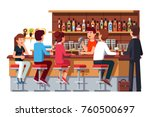 group of people man   woman... | Shutterstock .eps vector #760500697