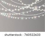christmas lights isolated on... | Shutterstock .eps vector #760522633