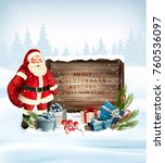 christmas holiday background... | Shutterstock .eps vector #760536097