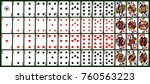 playing cards  classical style. ... | Shutterstock .eps vector #760563223