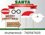 santa merry christmas and new... | Shutterstock .eps vector #760567633