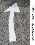 arrow sign on street  go... | Shutterstock . vector #760569013
