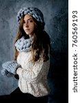 winter fashion accessories... | Shutterstock . vector #760569193