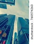 new york skyscrapers vew from... | Shutterstock . vector #760574263