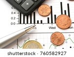 financial background with money ... | Shutterstock . vector #760582927