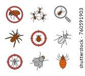 pest control color icons set.... | Shutterstock .eps vector #760591903