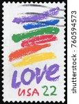 united states   circa 1980  a... | Shutterstock . vector #760594573