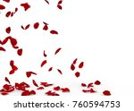 rose petals fall to the floor....   Shutterstock . vector #760594753