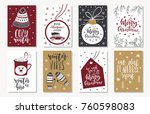 set of creative 8 journaling... | Shutterstock .eps vector #760598083