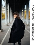 portrait of a stylish pretty... | Shutterstock . vector #760601977