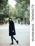 beautiful fashion young woman... | Shutterstock . vector #760604173