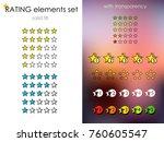 rating stars  rankings icon... | Shutterstock .eps vector #760605547