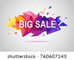 sale banner template colorful... | Shutterstock .eps vector #760607143